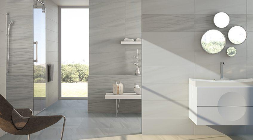 Azulejos para el baño. El color gris está de moda. Ideas!