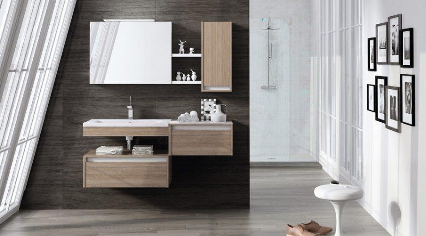 Muebles suspendidos para el baño. Diseño y funcionalidad.