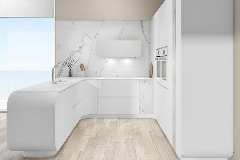 Muebles de cocina blancos: luz, armonía, limpieza... Y fáciles de combinar con accesorios y materiales de otros colores. Un clásico que nunca pasa de moda.  La elección de los muebles de cocina es una decisión clave. Además del color blanco, en nuestras propuestas de hoy podrás ver la combinación con diferentes tonos y materiales. Muebles de diseño para tu cocina actuales, elegantes y atemporales.