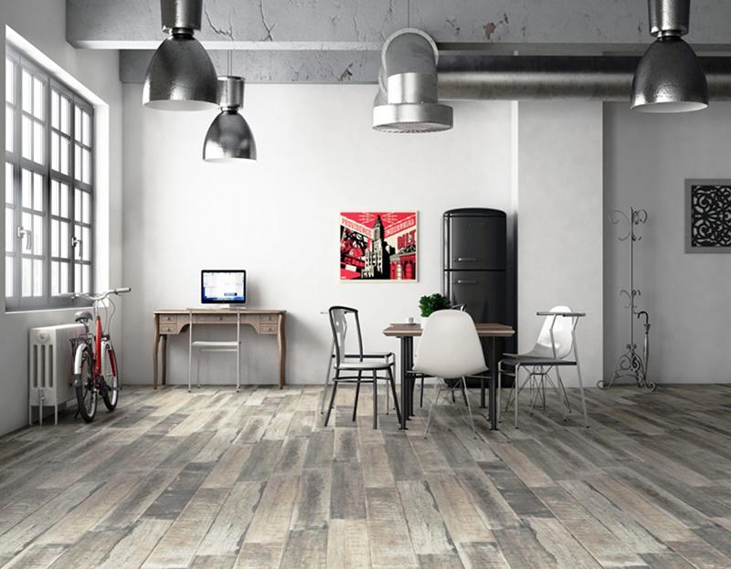 Los suelos de madera son atemporales. Nuestros suelos de cerámica imitación madera vestirán tu hogar con elegancia. Y además con las ventajas que otorga este material tan funcional.  La madera para cualquier espacio del hogar es un clásico, por sus colores y la calidez que aporta. Sin embargo es un tipo de material que tiene varias desventajas frente a los suelos cerámicos. No sólo se trata del precio, si no también de inconvenientes como un mantenimiento más complicado y menos durabilidad.