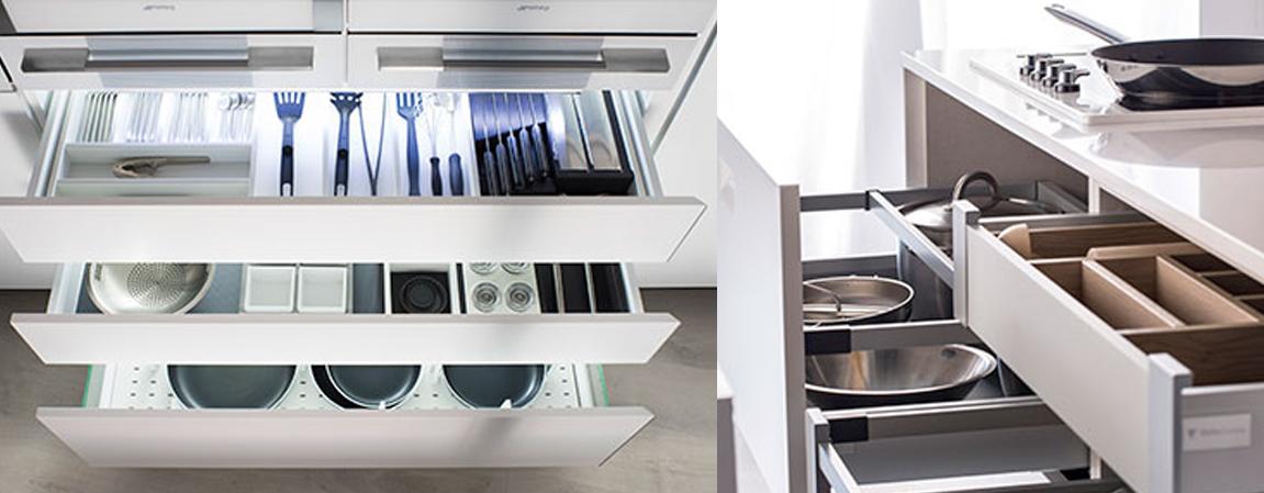 Los armarios para la cocina son un elemento indispensable a la hora de amueblar este espacio del hogar.  A la hora de renovar la cocina tenemos varios aspectos importantes que determinar. Los suelos, los azulejos y los muebles para la cocina tienen que guardar una buena relación a nivel estilo y estética. Pero también debemos elegir unos muebles que se adecúen a nuestras necesidades. Unos armarios para la cocina si además de bonitos son funcionales y con gran capacidad de almacenaje, resultarán perfectos.  La cocina es un lugar en el que realizamos la actividad de elaborar la comida. Por eso debe contar con los espacios de organización y almacenaje adecuados. Así, tener un espacio de trabajo correctamente organizado nos permitirá que esta tarea sea más fácil y eficiente.